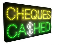 Cheques Cashed LED Sign (LDX04)